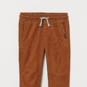 NWT H&M Brown Corduroy Joggers 6-7 Years